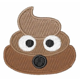 Embroidered Poop Emoji Patch Sew/Iron On