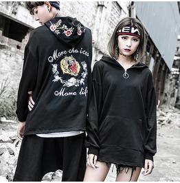 Street Fashion Embroidery Tiger Hip Hop Hoodies