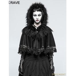 Black Gothic Lolita Little Cloak/Cape For Women Lm 002