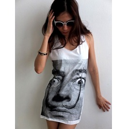 Salvador Dali Mustache Surreal Pop Art Fashion Tank Top