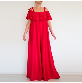 Red Women Jumpsuit, Evening Jumpsuit, Loose Jumpsuit, Plus Size Jumpsuit