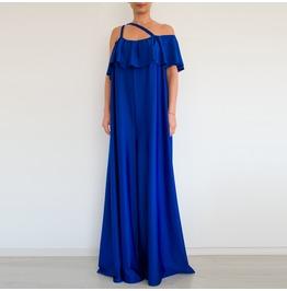 Blue Women Jumpsuit, Evening Jumpsuit, Loose Jumpsuit, Plus Size Jumpsuit