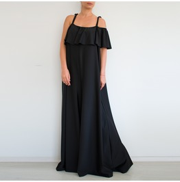 Black Jumpsuit, Evening Jumpsuit, Loose Jumpsuit, Plus Size Jumpsuit