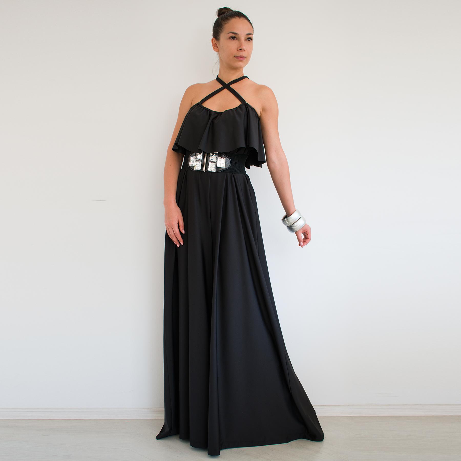 Black Jumpsuit Evening Jumpsuit Loose Jumpsuit Plus Rebelsmarket