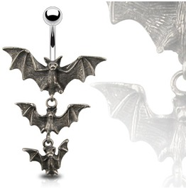 Navel Bar Bats Pendant
