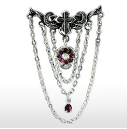 Navel Bar Chandelier Pendant Purple Gemstone