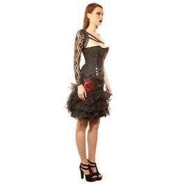 Sample Size 20 Rocking Red Skull Corset Dress