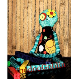 Voodoo Doll Ragged Delilah Mixed Media