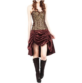 Gilded Floral Guard Corset Dress