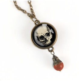 Human Skull Pendant Necklace