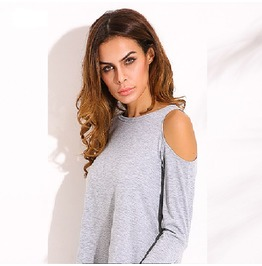 Sexy Tunic Off Shoulder Long Sleeve Pullover Loose Shirts