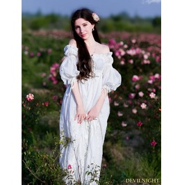 Vintage Fancy Medieval Underwear Chemise Dress Mdn 0002