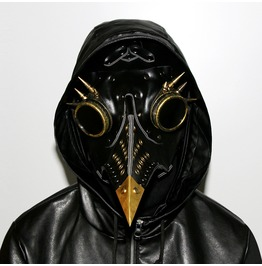 Steampunk Punk Plague Doctor Mask Bird Beak Black Gothic Halloween Cosplay