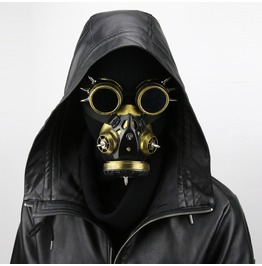 Halloween Cosplay Mask Gift Vintage Goggles Punk Gas Mask Accessory
