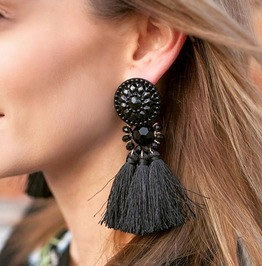 Boho Vintage Drop Fringe Tassel Fashion Earrings