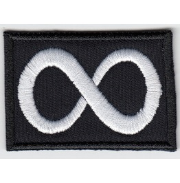 Symbol Of Eternity, Embroidered Patch, 1,6 X 2,4 Inch