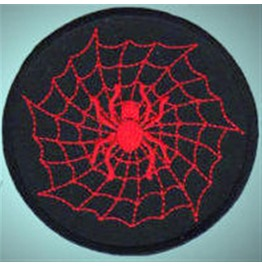Spider On Net Embroidered Patch, Buy3 Get4, 3,2 X 3,2 Inch
