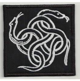 Snake Knot Embroidered Back Patch, 8 X 8 Inch