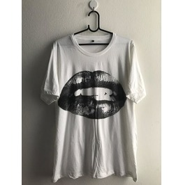 Lips Fashion Pop Rock Indie T Shirt Unisex Xl
