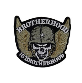Brotherhood Is Brotherhood Patch Iron On Sew On Embroidered Mc 3.35 Inch