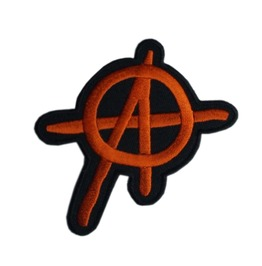 Anarchy A Patch Iron On Sew On Embroidered Mc 3.15 Inch Biker Punk Outlaw