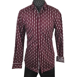 Men's Abbey Road Dress Shirt Burgundy