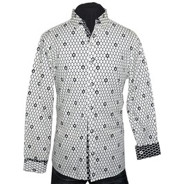 Men's Understated Overkill Skull Dress Shirt White