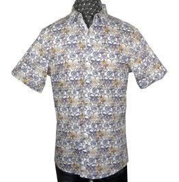 Men's Every Rose Thorn Short Sleeve Dress Shirt White
