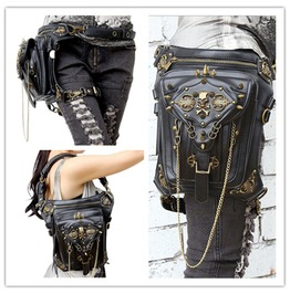 Steampunk Skull Belt Bag Waist Leg Hip Holster Purse Pouch Cyberpunk Packs