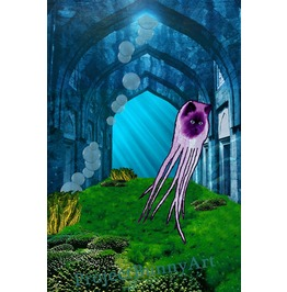 Gothic Octopussy Mixed Media