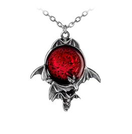 Bloody Moon Flying Bats Pendant Necklace