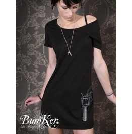 Embroidered Dress T Shirt Gun