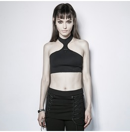 Punk Rave Women's Summer Stretchy Tube Tops Black Pt115