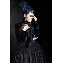 Punk Rave Women's Goth Embroidered Fringe Velvet Jackets Y413