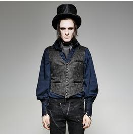 Punk Rave Men's Steampunk Embossed Buttons Vest Y718