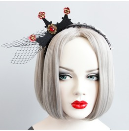Handmade Black Gothic Red Jewelery Croen Hair Accessories Fg 79