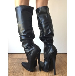 Rtbu Pirate 18cm Stiletto Slouch Gathered Over Knee Boots Customized Shaft