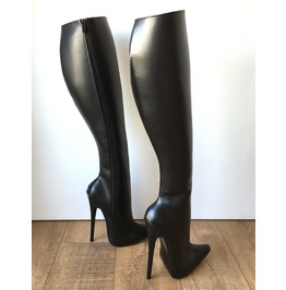 Rtbu Chris Hard Shaft Knee Hi 18cm Stiletto Vegan Boots Personalized Shaft