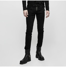 Punk Rave Men's Front Zipper Straight Leg Pants K300