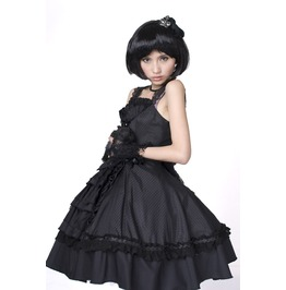 Punk Rave Women's Lolita Halterneck Ruffles Bubble Dress Lq 008