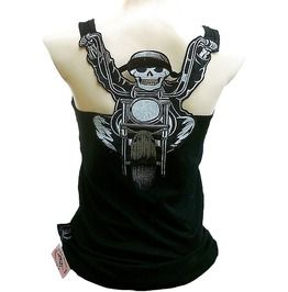 Rockabilly punk rock baby harley biker gothic skull tank top shirt s m l xl xxl tanks tops and camis