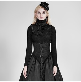 Punk Rave Women's Lolita High Collar Ruffles Tops Lt002