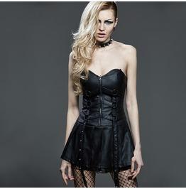 Punk Rave Women's Front Zipper Tube Top Sexy Mini Dress Q260