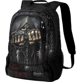 Spiral Backpack Rucksack Laptop Bag Reaper Game Over Goth