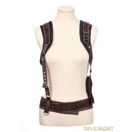 Brown Steampunk Braces With Bag Sp 161