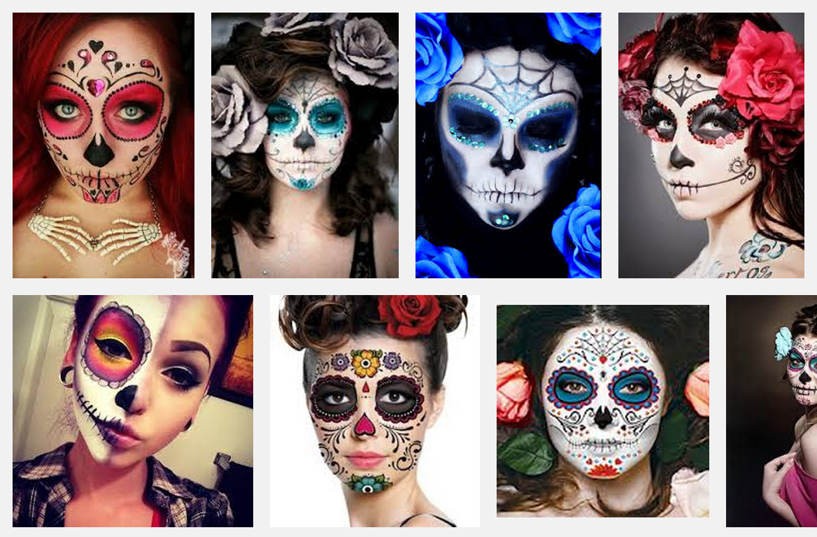 Looking for Halloween Ideas? Get a Sugar Skull Makeup Look in 10 Minutes. Must watch Video.