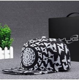 Hip Hop Machine Gun Casual Adjustable Flat Hat,Fashion Snapback Baseball Cap