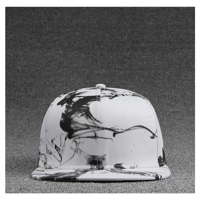 rebelsmarket_ink_painting_black_and_white_style_casual_flat_hat_fashion_charm_snapback_cap_hats_and_caps_6.jpg