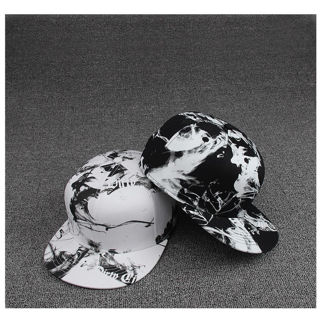 rebelsmarket_ink_painting_black_and_white_style_casual_flat_hat_fashion_charm_snapback_cap_hats_and_caps_4.jpg