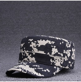 Camouflage Flat Top Peaked Baseball,3 Color Adjustable Casual Military Hat